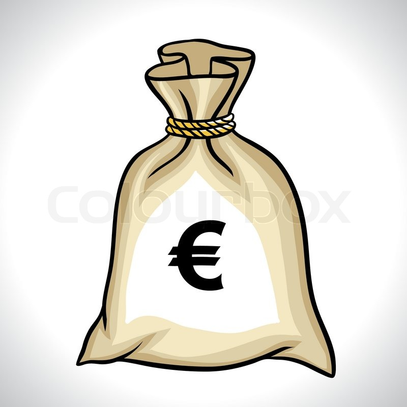 Money Bag With Euro Sign Vector Illustration Stock Vector Colourbox