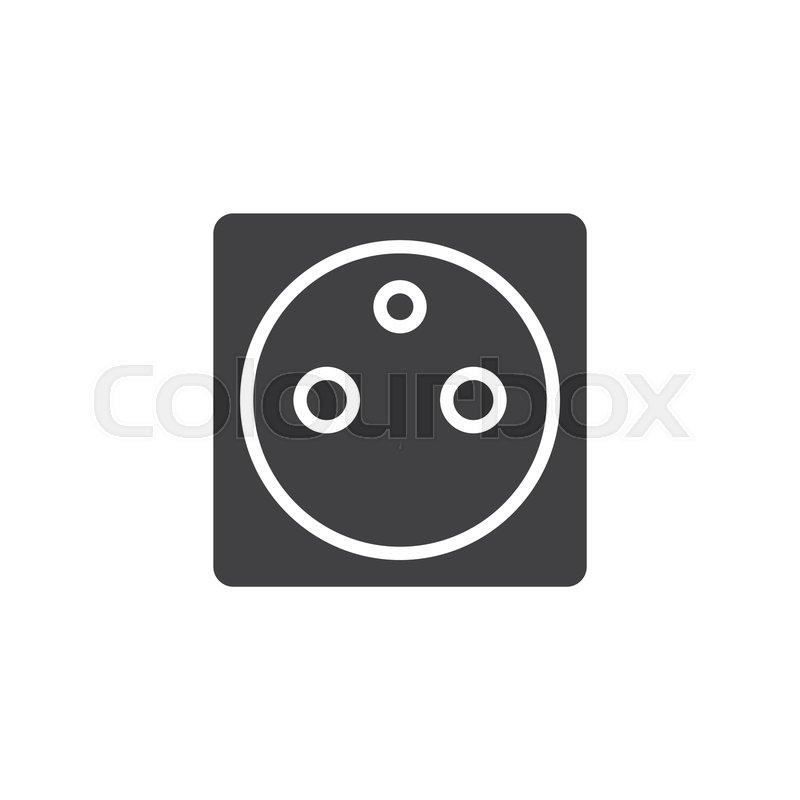 Type D power socket vector icon      | Stock vector | Colourbox