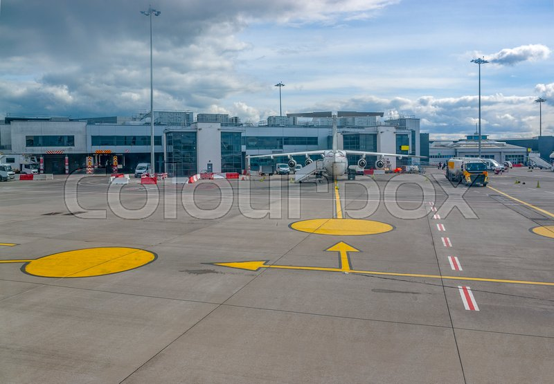 Stock image of 'scenery at the Dublin Airport in Ireland'