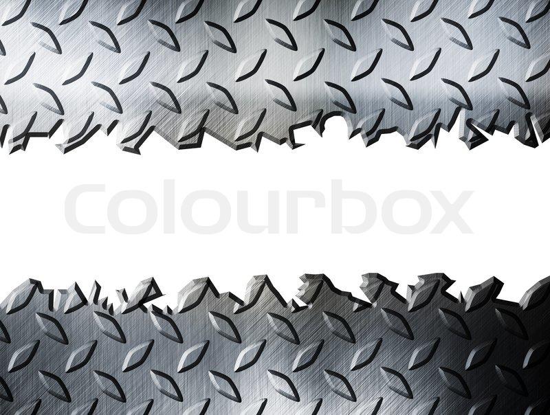 diamond plate metallic border-#11