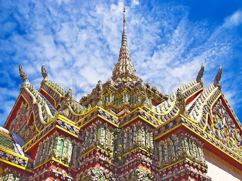 Decorated Buddhist Temple Of Wat Phra Kaew In The Grand