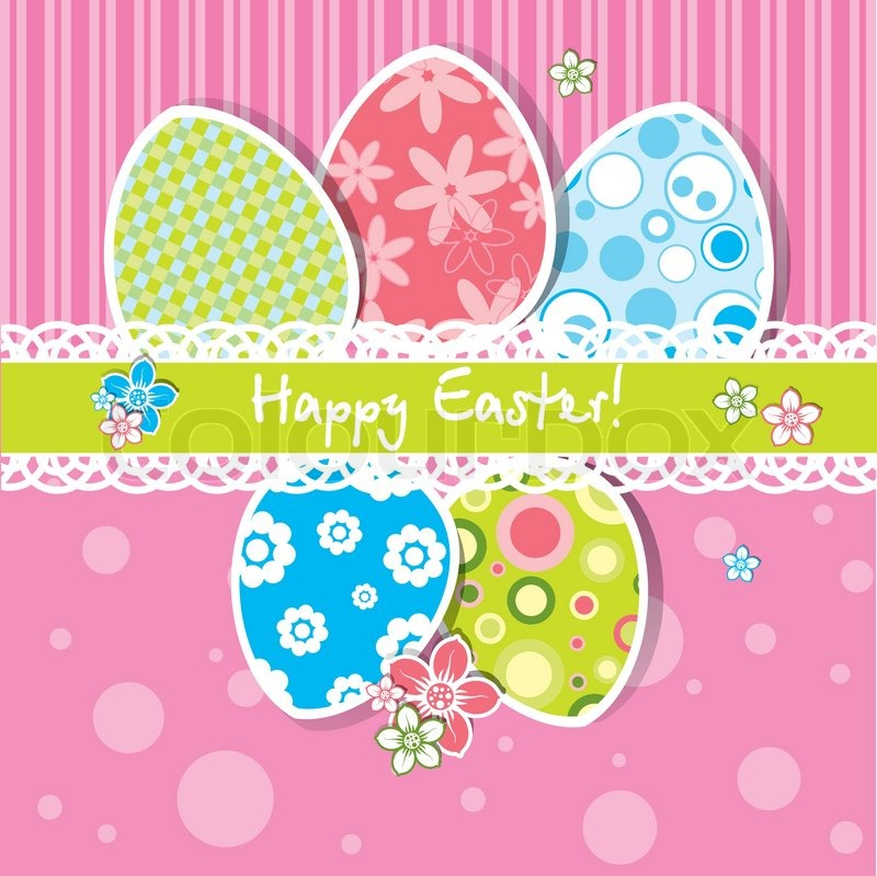 Template Easter greeting card vector Vector – Easter Greeting Card Template
