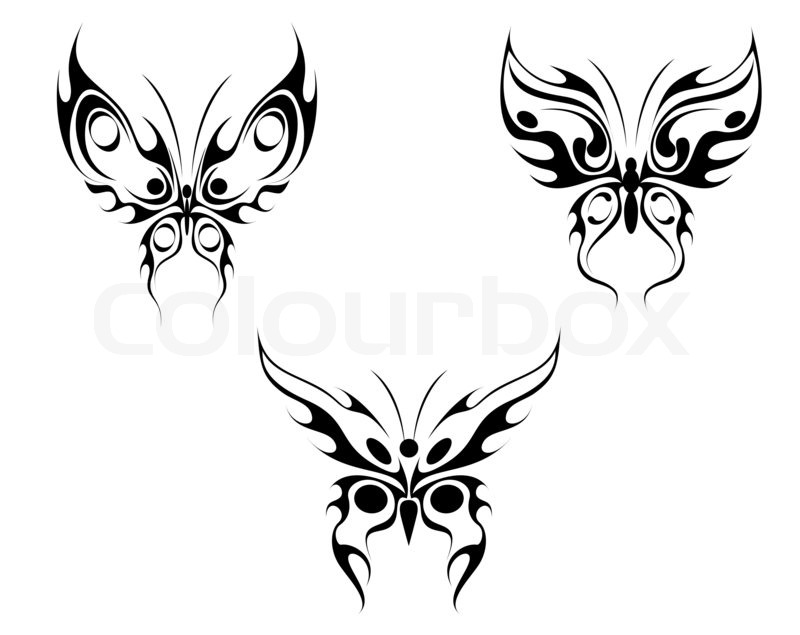 butterfly tattoo stockfoto colourbox. Black Bedroom Furniture Sets. Home Design Ideas