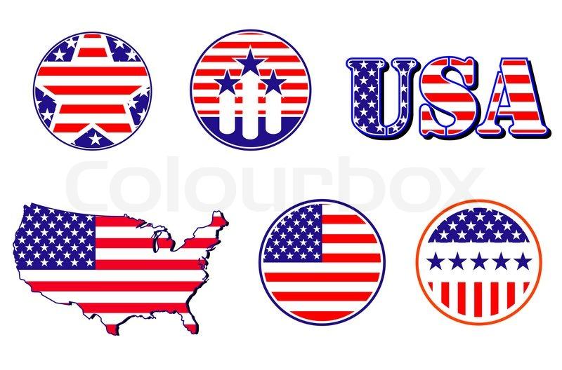 American Patriotic Symbols Stock Photo Colourbox