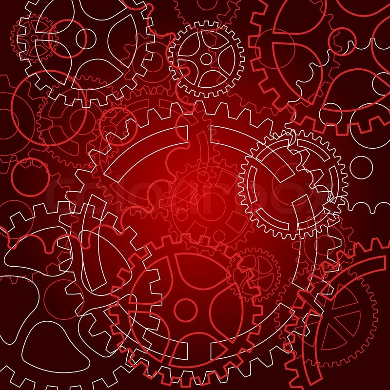 Abstract Background With Gears For Technology Or Time