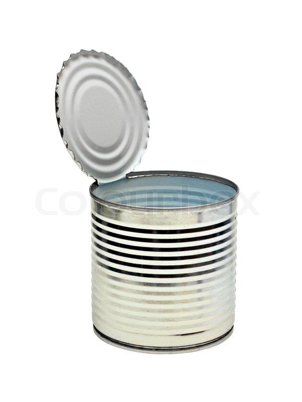 Open An Empty Tin Can Stock Photo Colourbox