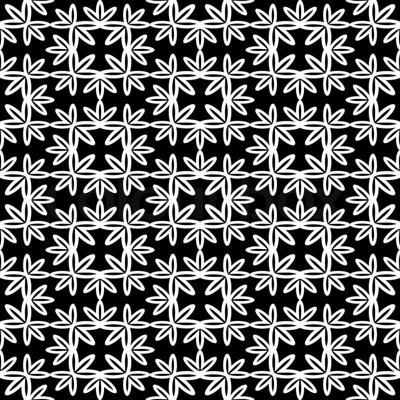 Abstract background, monochrome vector wallpaper, damask seamless pattern, black and white ...