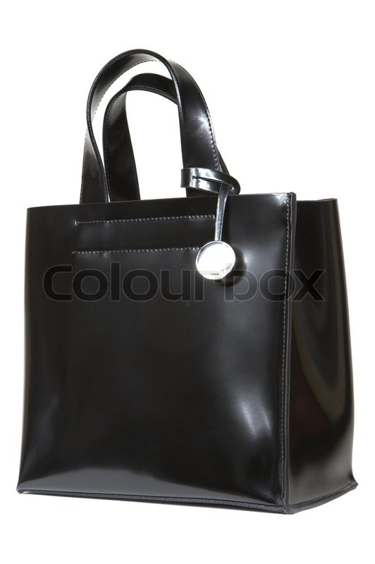 Black leather bag | Stock Photo