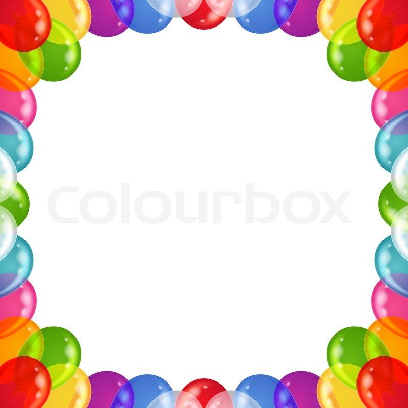 Hintergrund Luftballons Rahmen | Vektorgrafik | Colourbox