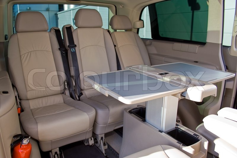 Interior Of A Minivan, Stock Photo