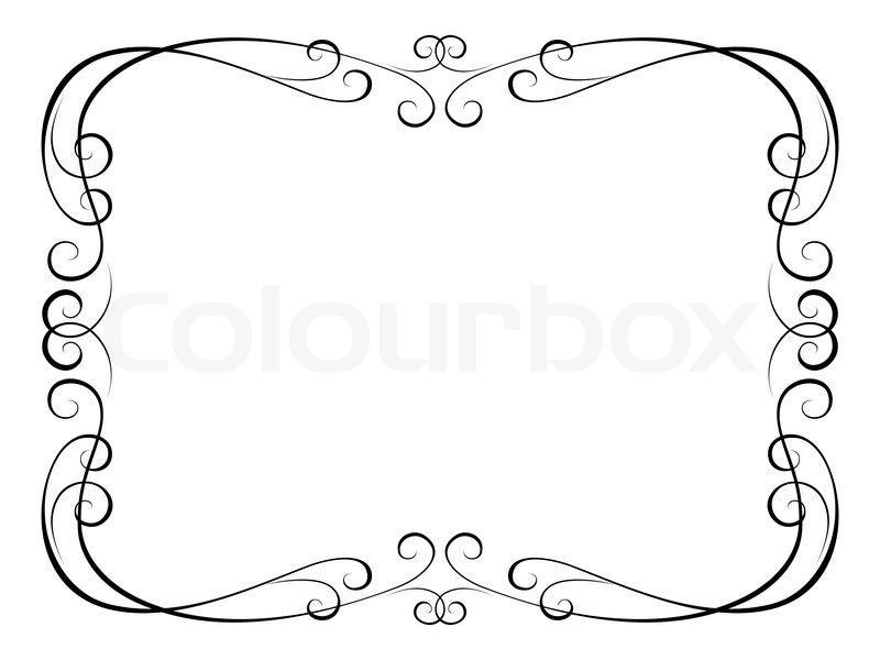 kalligraphie ornamentalen dekorativen vektorgrafik colourbox. Black Bedroom Furniture Sets. Home Design Ideas
