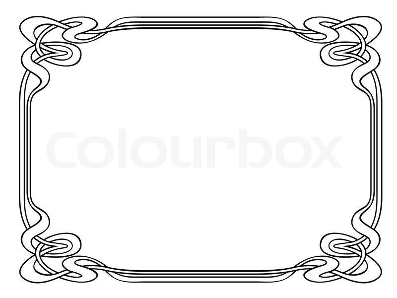 jugendstil ornamentalen dekorativen rahmen vektorgrafik colourbox. Black Bedroom Furniture Sets. Home Design Ideas