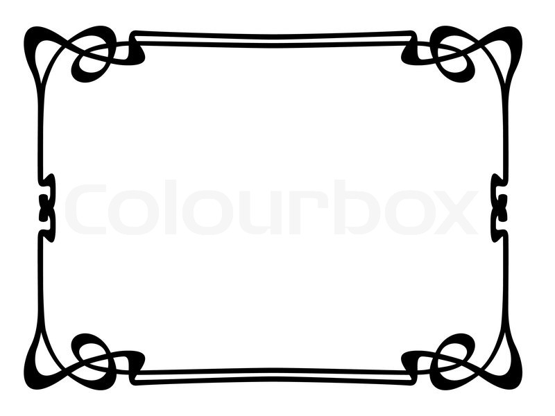 jugendstil ornamentalen dekorativen rahmen vektorgrafik. Black Bedroom Furniture Sets. Home Design Ideas