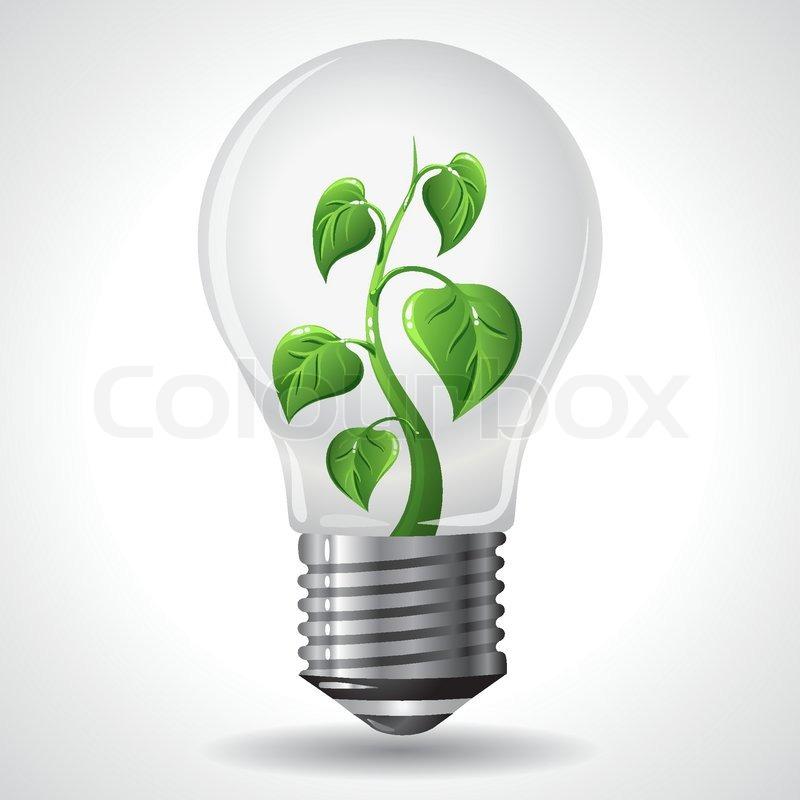 Green Energy Concept Vector Stock Vector Colourbox