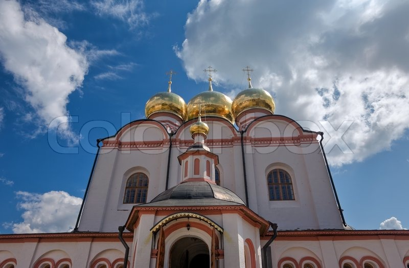 Stock image of 'Orthodox church. Iversky monastery in Valday, Russia'