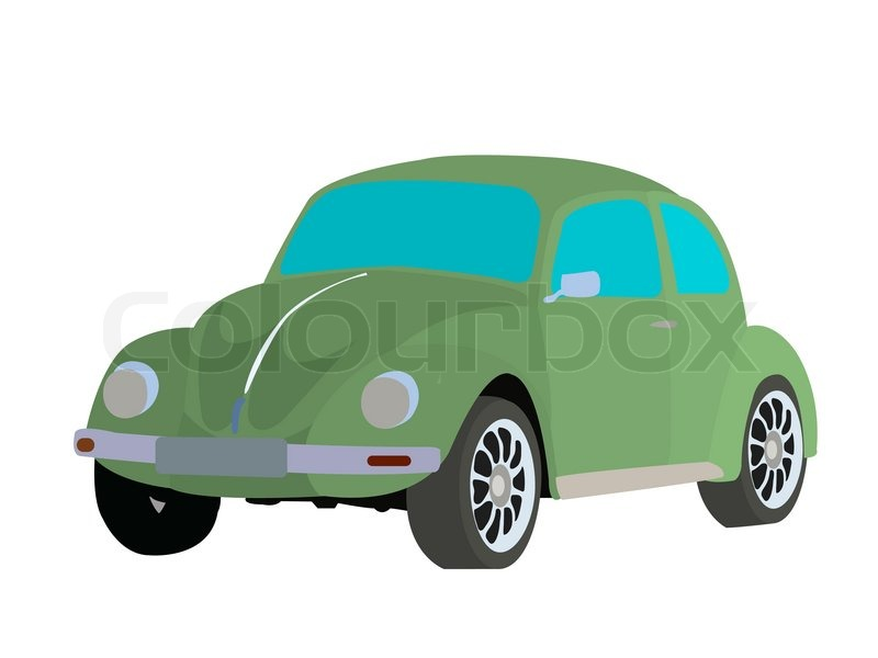 Old fashioned car vector image on white background | Stock Vector ...
