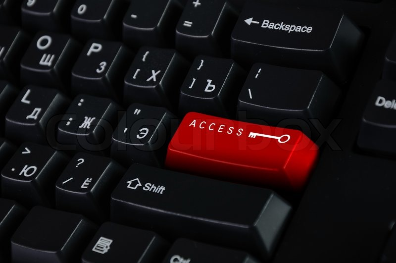 Computer Keyboard With Access Symbol Stock Photo Colourbox