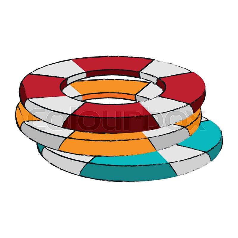 c1d788396f3b Lifesaver float symbol icon vector ...