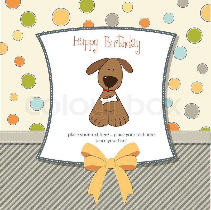 Birthday Card With Dog Stock Vector Colourbox