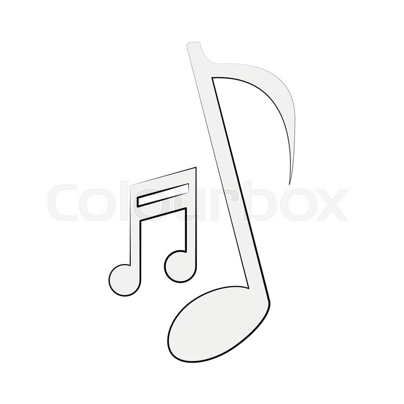 Music Notes Symbol Icon Vector Stock Vector Colourbox
