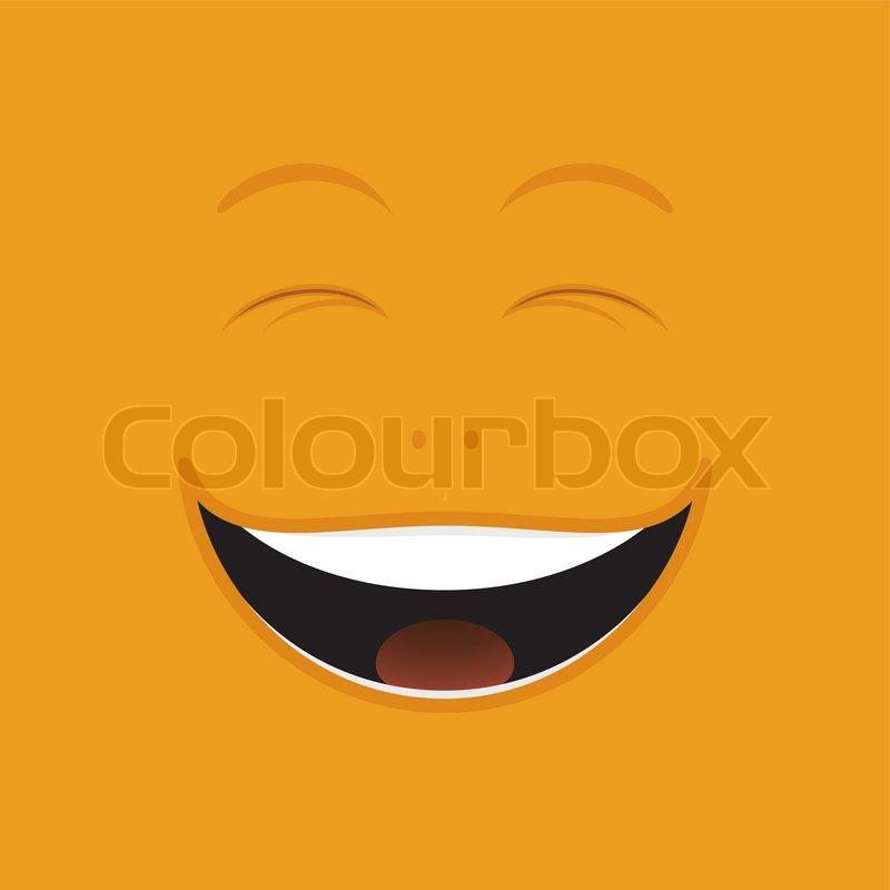 laughing cartoon face stock vector colourbox rh colourbox com People Laughing Cartoon Face free cartoon laughing faces clip art