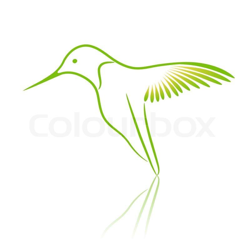 Logo bird. Hummingbird. | Vector | Colourbox Hummingbird Vector Logo