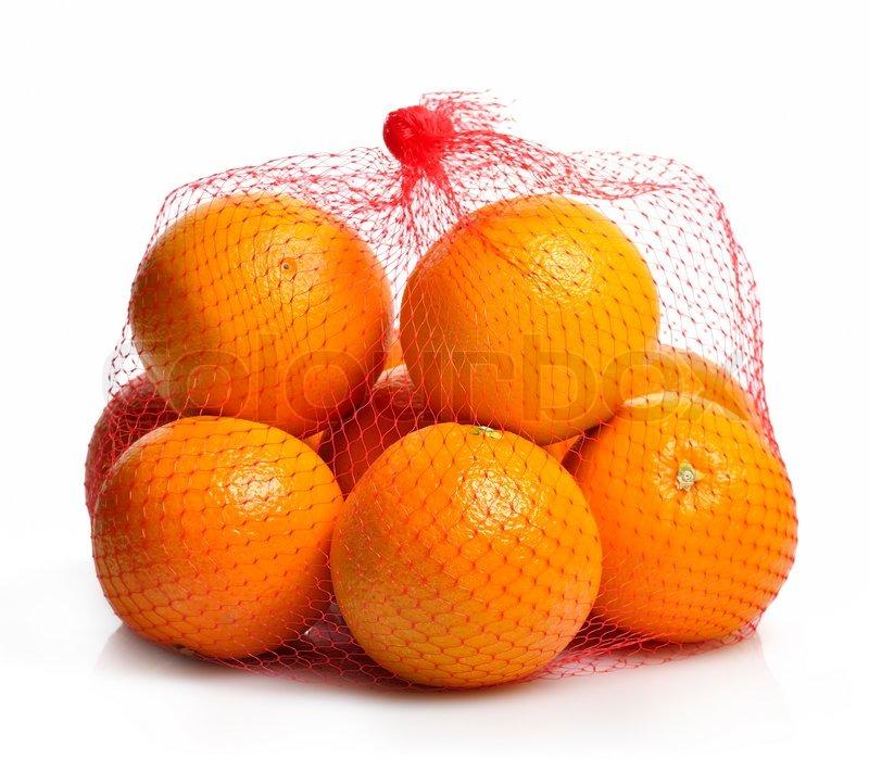 Oranges In A Bag Stock Photo Colourbox