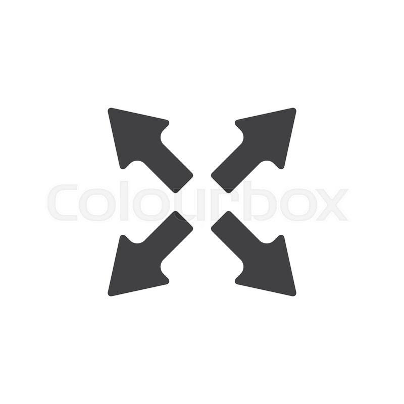 Expand arrows vector icon  filled flat     | Stock vector