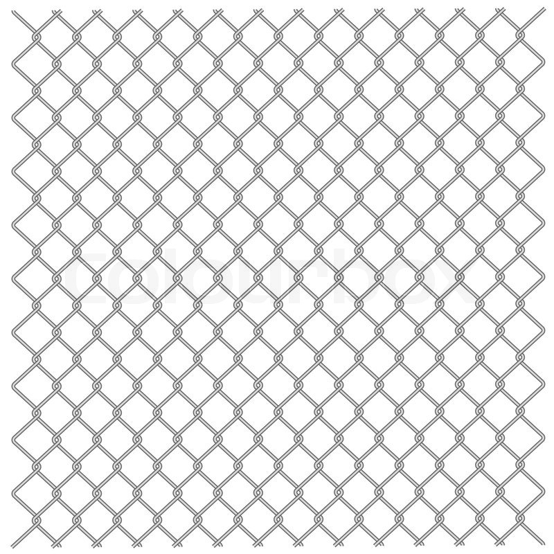 Illustration of a metal mesh netting. Vector. | Stock Vector | Colourbox