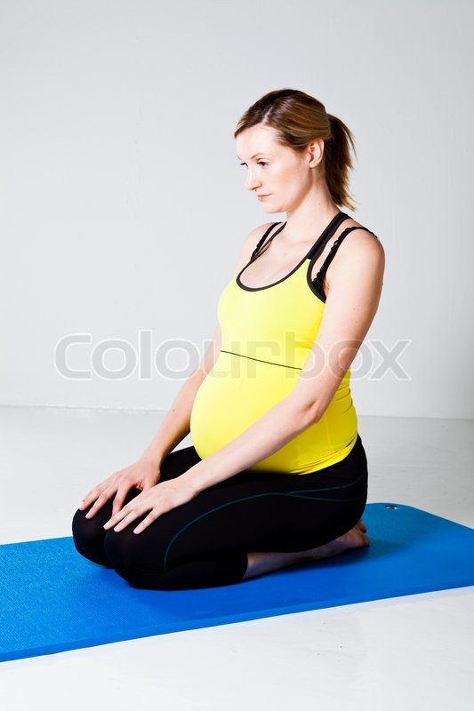 Something is. pregnant woman kneeling pity