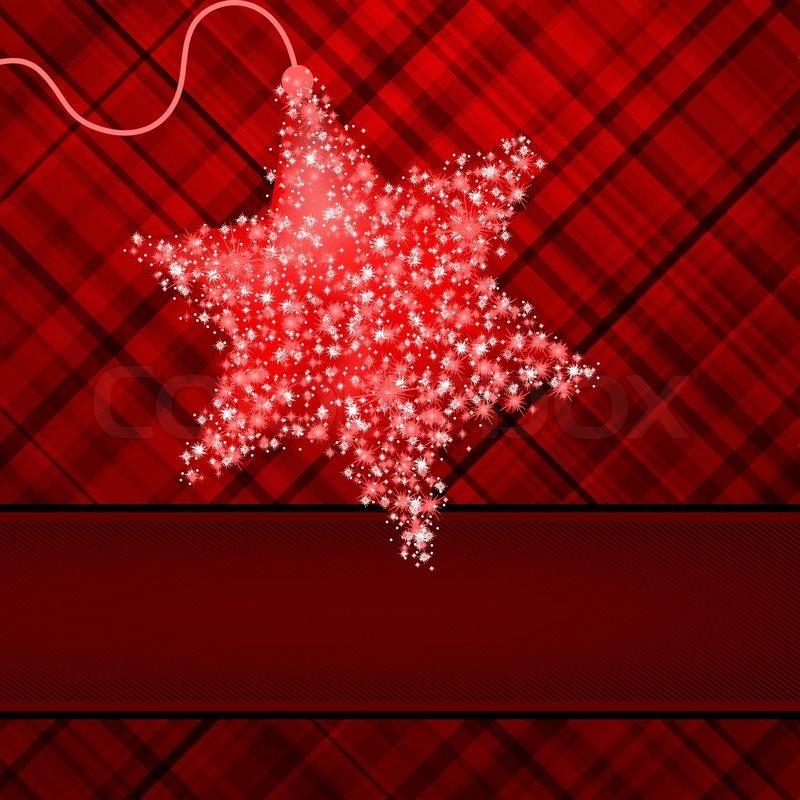 weihnachten sterne auf rotem hintergrund eps 8 stock. Black Bedroom Furniture Sets. Home Design Ideas