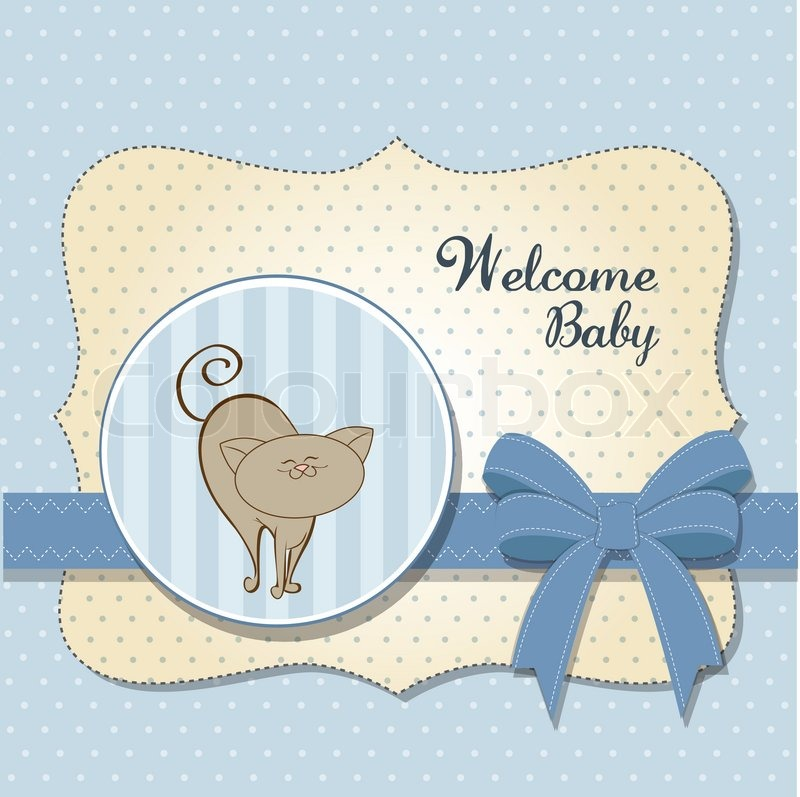Baby Shower Wiki: Baby Shower Card With Cat