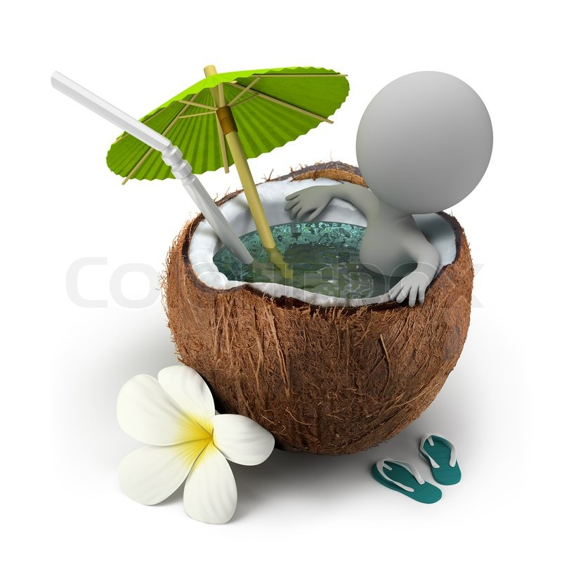 3d small people takes a bath coconut stock photo beach umbrella clip art free beach umbrella clip art transparent