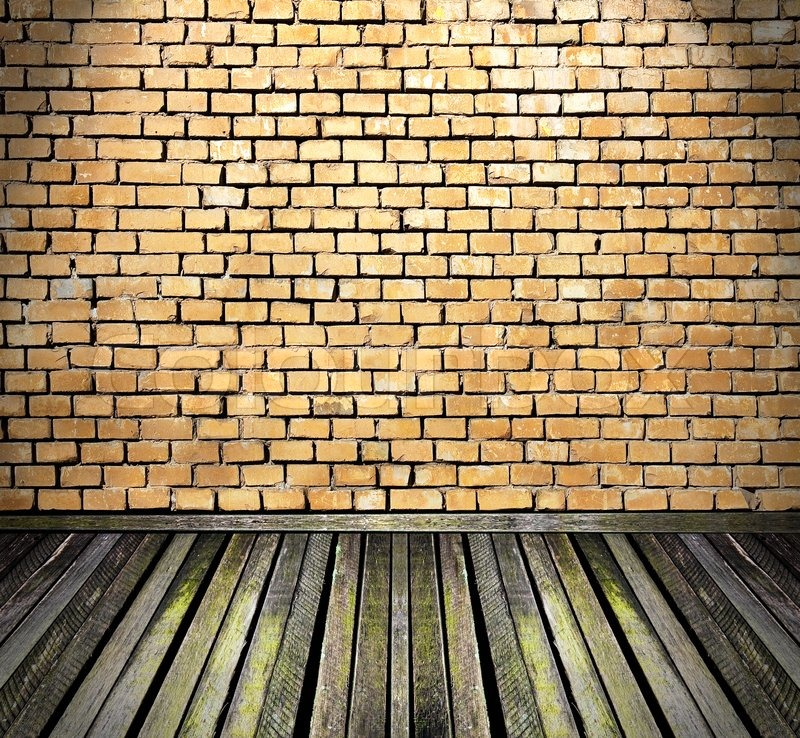 Vintage Room With Brick Walls And Wooden Floor Stock Photo Colourbox