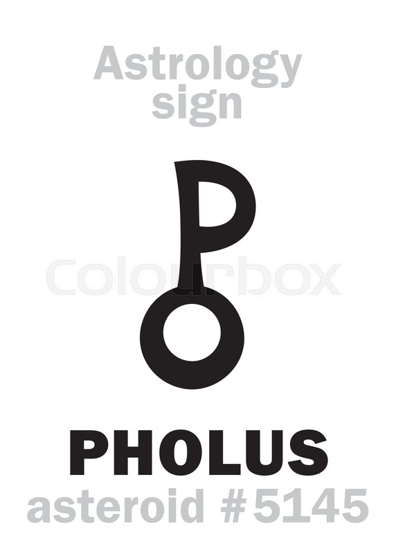 Astrology Alphabet: PHOLUS (centaur),     | Stock vector | Colourbox