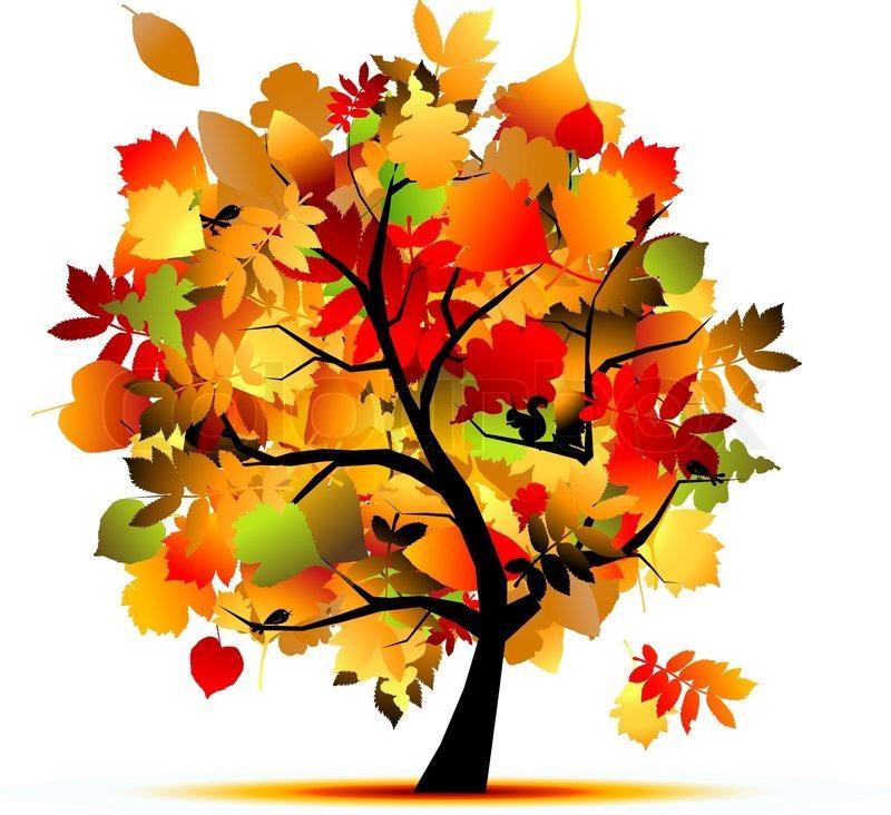 Schöne Herbst Baum für Ihr Design  Vektorgrafik  Colourbox