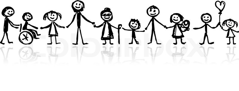 Family together, sketch for your design   Vector   Colourbox