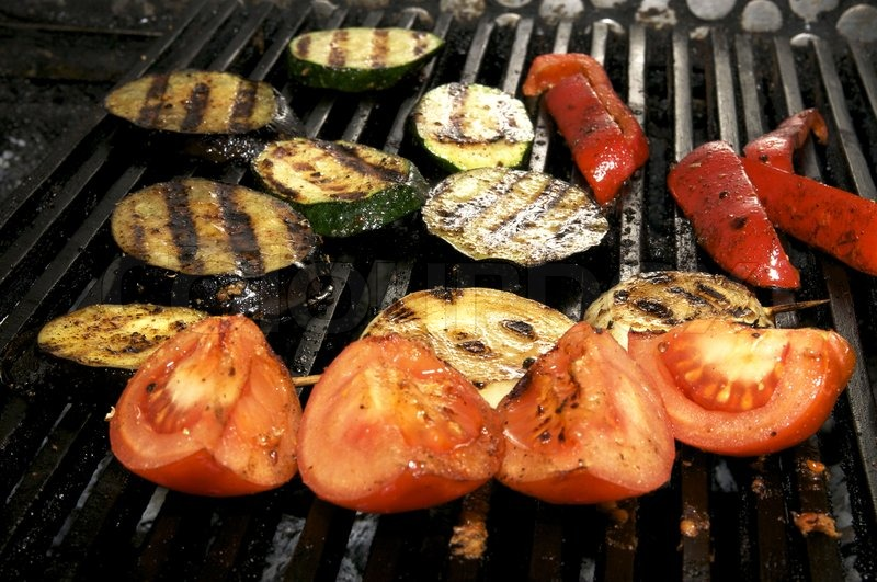 Stock image of 'grilled, vegetables, barbeque'