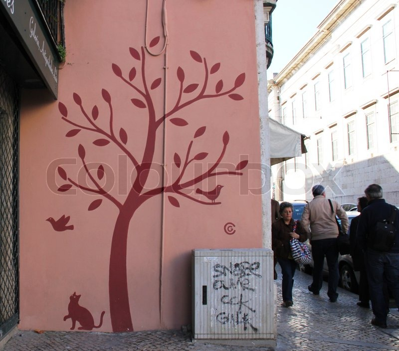 lissabon lisboa lissabon graffiti wandmalerei kunst stra e kunst kunst malerei. Black Bedroom Furniture Sets. Home Design Ideas