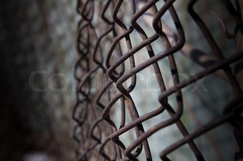Ein Rostiger Zaun Mesh Stockfoto Colourbox