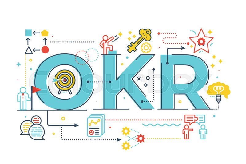 OKR (Objectives and key results)word ... | Stock vector | Colourbox
