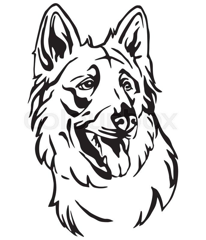 Dog Profile Outline