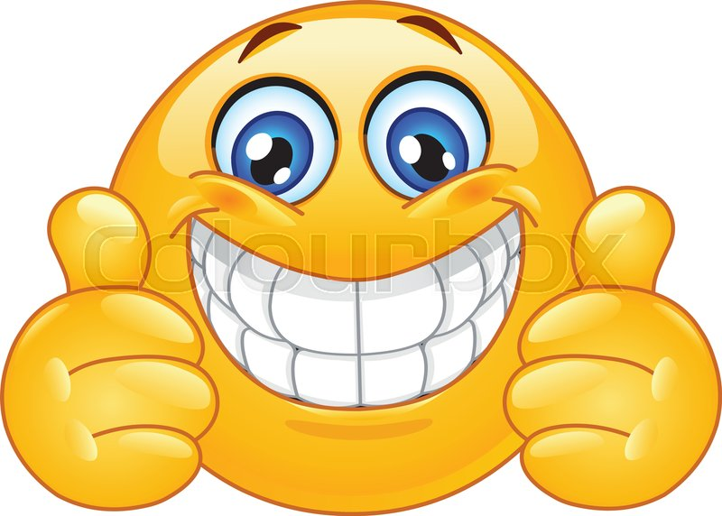 emoticon with big toothy smile showing