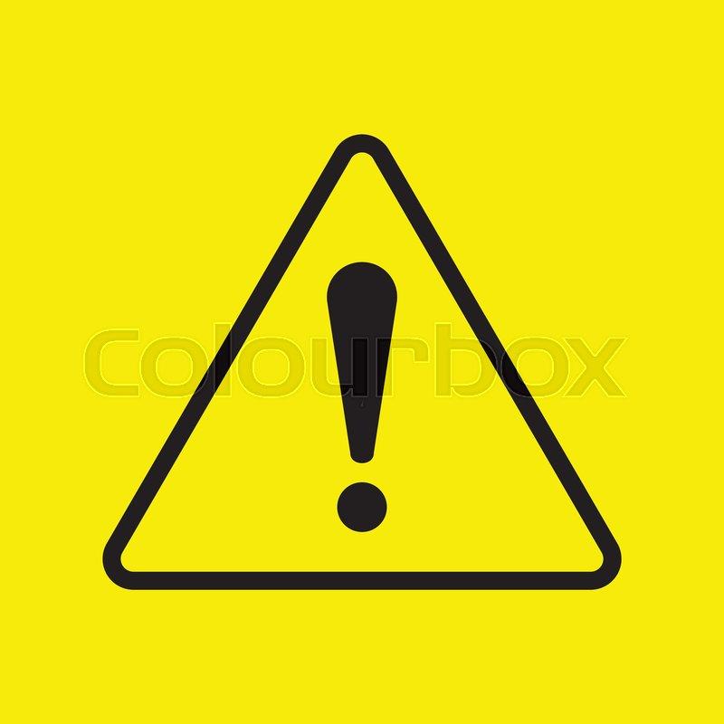 vector danger symbol warning stock vector colourbox vector danger symbol warning