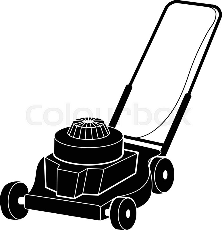 Petrol Lawn Mower Icon Simple Stock Vector Colourbox