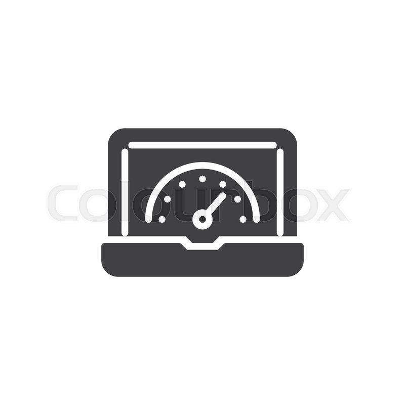 Laptop Speed Test Vector Icon Filled Stock Vector Colourbox