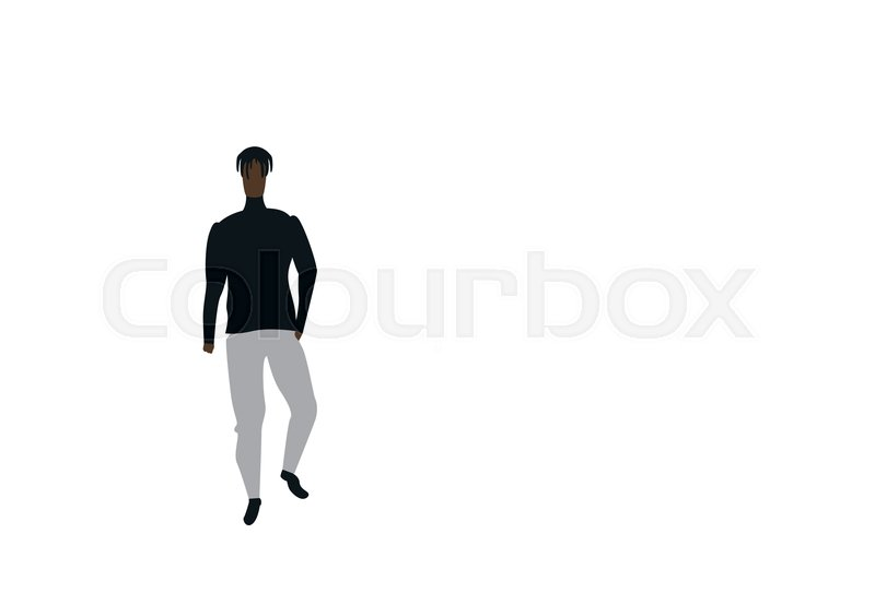 African american casual man standing     | Stock vector
