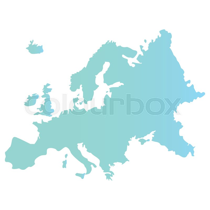 European union map on white background     | Stock vector