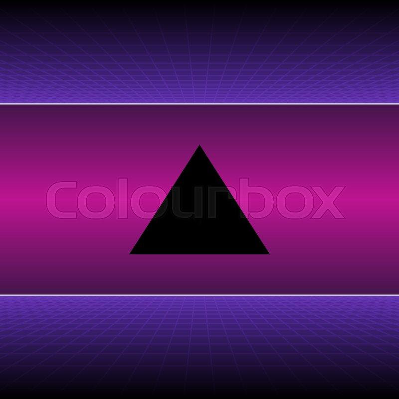Retro Neon Light Synthwave Sci-fi       Stock vector   Colourbox