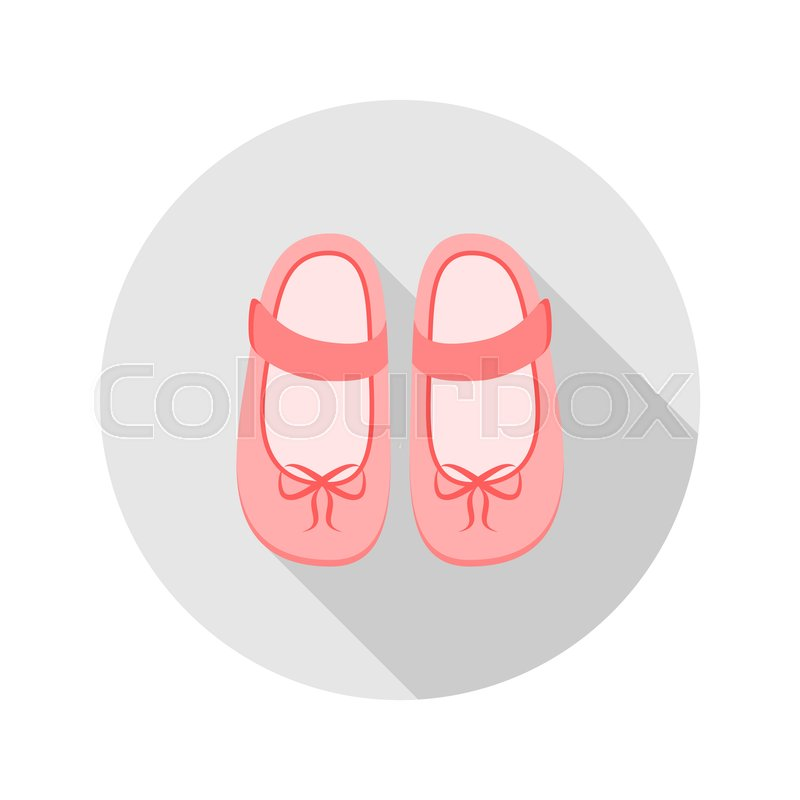 Baby Shoes Icon For Web And Mobile Stock Vector Colourbox